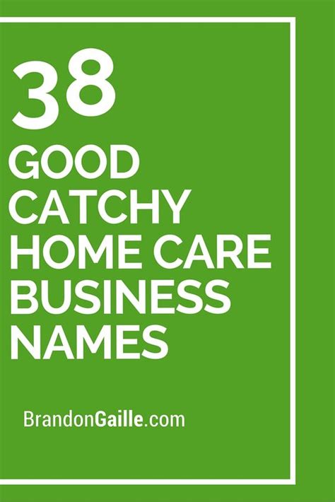 home business and names on