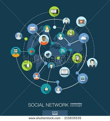 home design social network social network connection concept abstract background