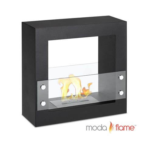 moda flame porta free standing ventless ethanol fireplace