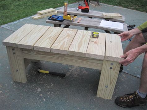 diy furniture my husband s patio bench two