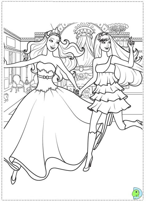 barbie the princess and the popstar coloring page
