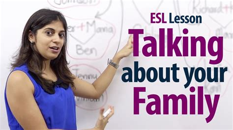 english tutorial online youtube how to talk about your family english lesson free esl
