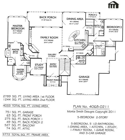 5 bedroom home plans 2 4 bedroom 5 1 2 bathroom 1 dining area 1