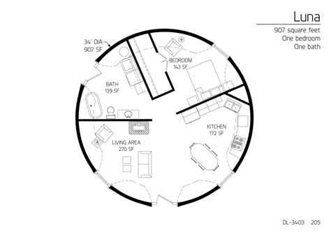 Monolithic Dome House Plans Floor Plan Dl 3403 Monolithic Dome Institute