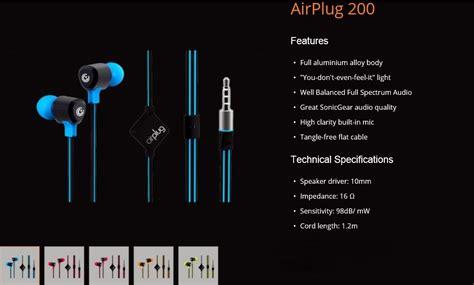 Headset Sonic Gear Airplug 100200300 limited stocks sonic gear air headset