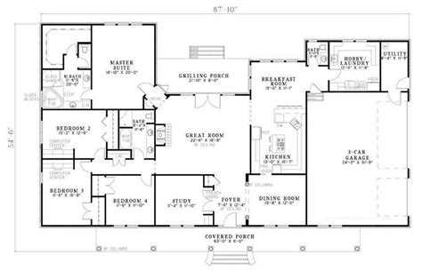 2800 Sq Ft House Plans | bhg 7886 cherry street floor plan single level at 2800 sq ft has hobby room showed this to