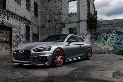 the matte matte grey audi rs5 is a smooth criminal carscoops