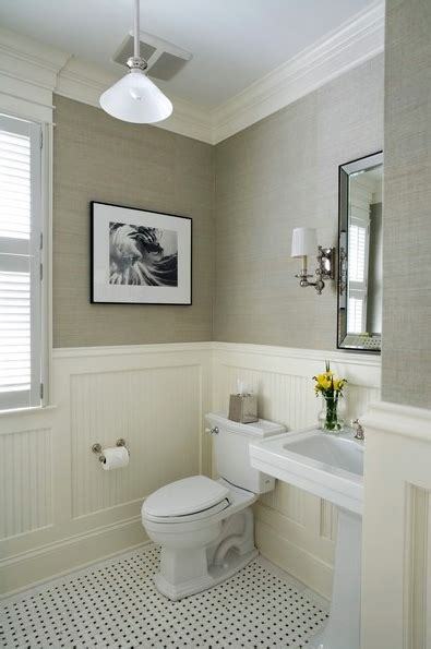 White Wainscoting Bathroom by Twine How To Update A 70 S Bathroom