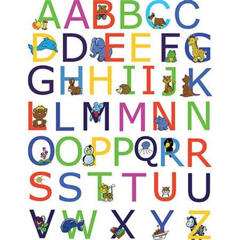 wall stickers alphabet letters alphabet peel and stick wall stickers