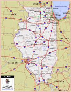 map of il printable us state maps free printable maps