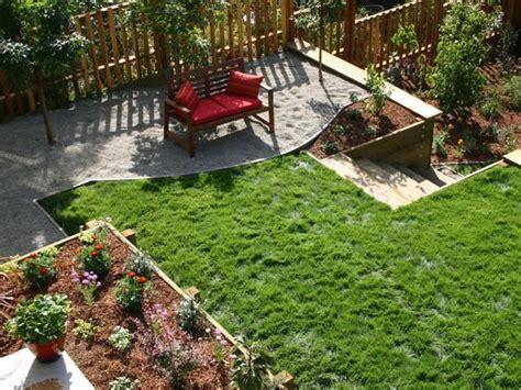 two level backyard landscape makeover multi level yard