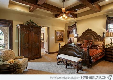 15 Extravagantly Beautiful Tuscan Style Bedrooms Tuscan Tuscan Bedroom Designs