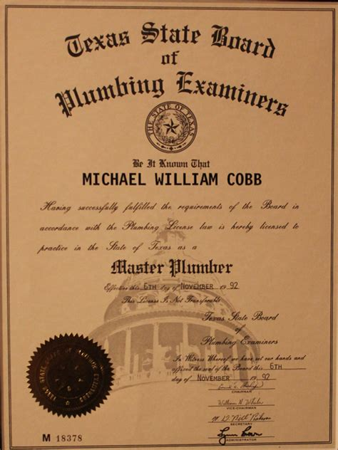 State Board Plumbing by History Cobb Plumbing