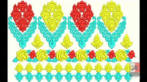embroidery design youtube pakistani jamawar borders embroidery designs youtube