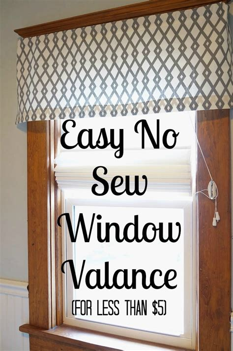 Window Treatment Patterns Easy Diy No Sew Window Valance