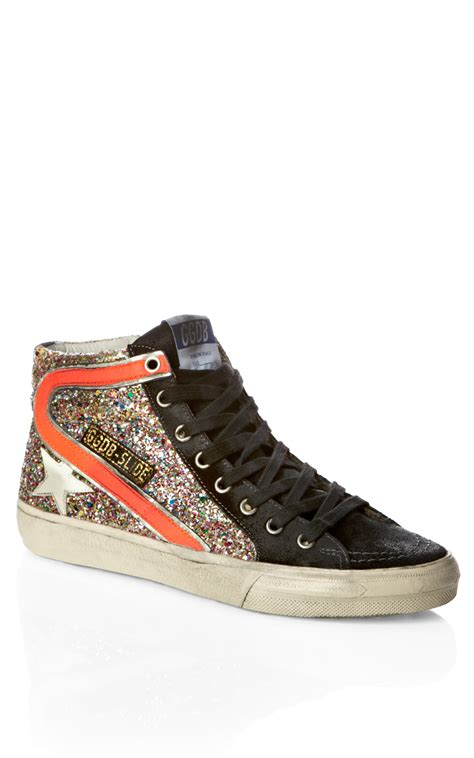 golden goose sneakers golden goose deluxe brand suede mid sneakers black