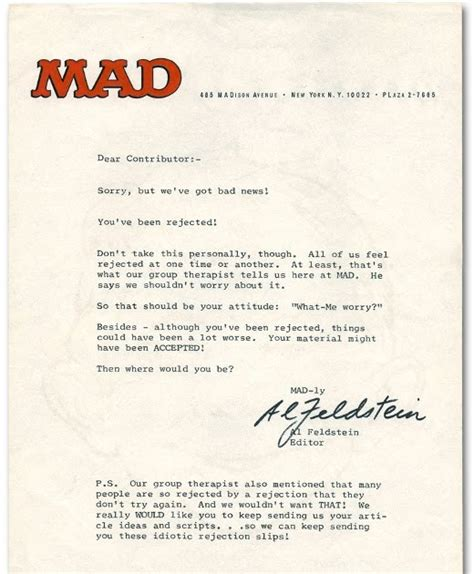 Rejection Letter Unfortunately Artist Emerging Rejection Letter