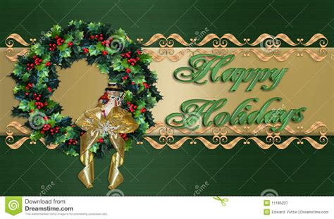 happy holidays christmas wreath border royalty  stock photography image