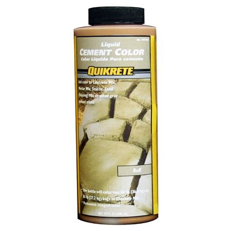 quikrete cement color quikrete 10 oz liquid cement color buff 131702 the