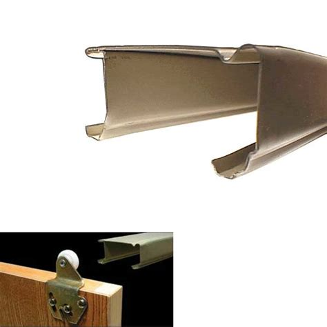 Johnson Bypass Door Hardware by Johnson Hardware 46 Quot Steel Bypass Track Goldtone 1138g48