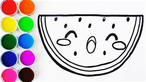 imagenes para pintar kawai c 243 mo dibujar y pintar sandia kawaii dibujos para ni 241 os