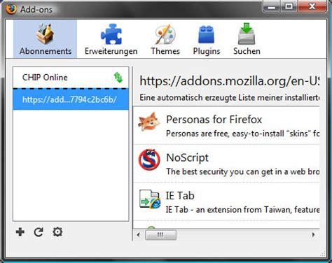 firefox themes verwalten add on sammler f 252 r firefox download chip