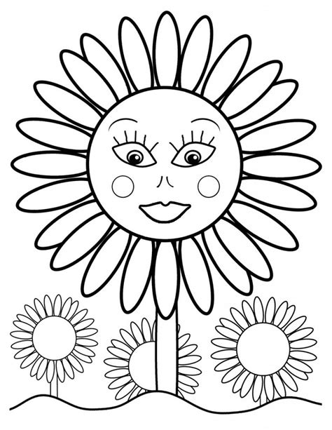 coloring page sunflower free printable sunflower coloring pages for kids