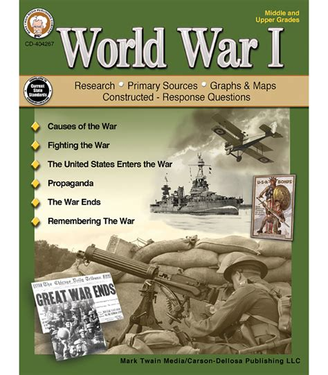 the world looked away after the war books world war i resource book grade 6 12 carson dellosa
