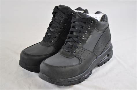 nike waterproof boots nike air max goadome gtx 314346 001 black leather tex
