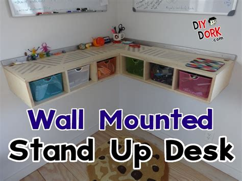 how to build a stand up desk how to build a wall mounted stand up desk diydork