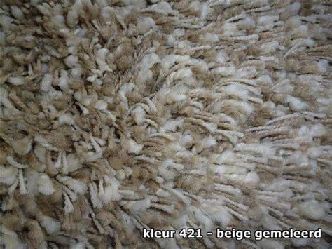 vloerkleed beige gemeleerd vloerkleed twinny hoogpolig karpet vonder wonen