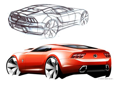 ford design in the 2015 ford mustang design story car body design