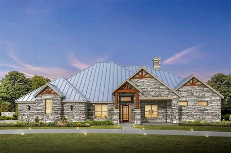 house plans architectural 4 bed hill country ranch house plan with exterior 430007ly architectural designs