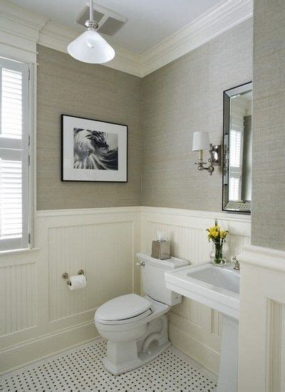 wainscoting in small bathroom wainscoting powder room bathrooms pinterest
