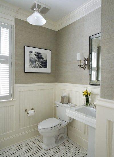 Wainscoting powder room bathrooms pinterest