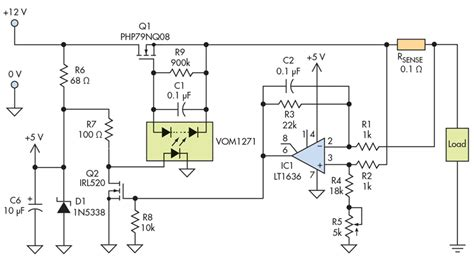 current limiting resistor in power supply current limiter offers circuit protection with low voltage drop electronic design