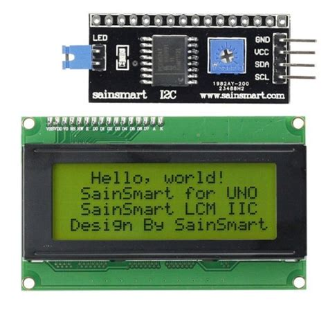 Ready Stock Lcd 1602 2004 I2c Serial Interface Backpack sainsmart iic i2c twi serial 2004 20x4 yellow lcd module shield for arduino uno mega r3 3d