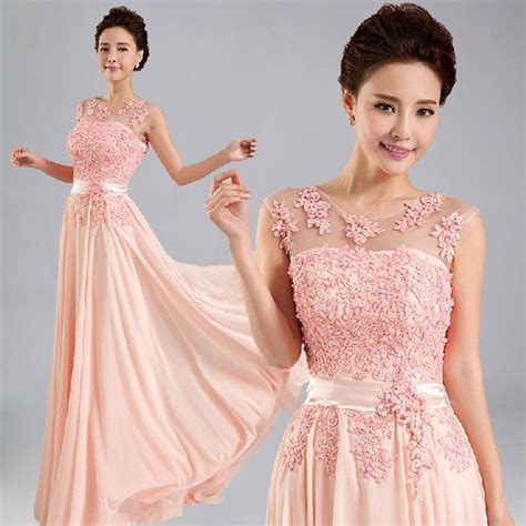 Setelan Beautiful beautiful pink formal evening prom dress