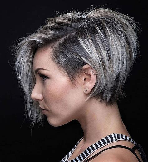 short asymmetrical hairstyles  elegant