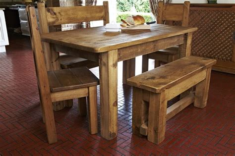 rugged dining table 56 best images about rustic chunky plank home furniture on