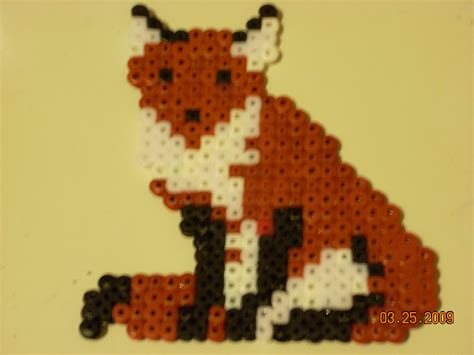 perler bead fox perler fox by poke7vosejpka7artist on deviantart