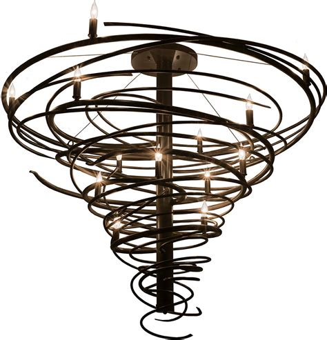 Contemporary Bronze Chandeliers Meyda 158869 Cyclone Contemporary Timeless Bronze