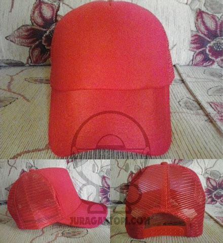 Jaring Merah Polos Terjual Jual Topi Polos Topi Jaring Polos Daerah Jogja