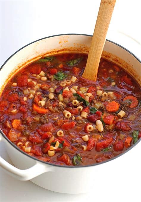 pasta e fagioli soup recipe dishmaps