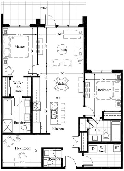 2 bedroom condo floor plans suite 105 1 270 sq ft 2 bedroom new condo floor plan