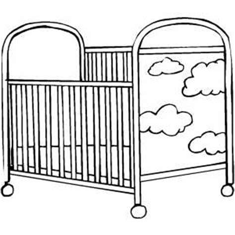 Crib Drawings by Crib Coloring Sheet