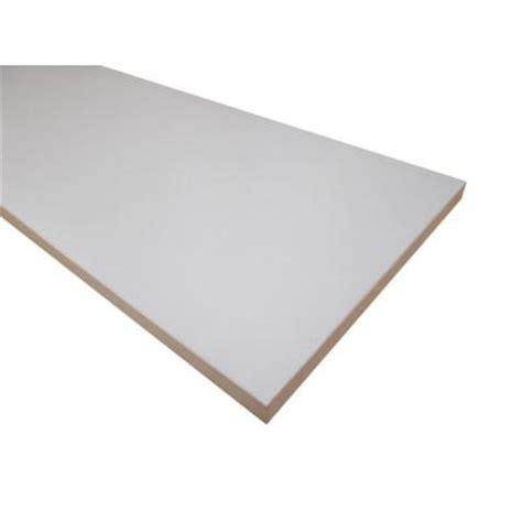 White Melamine Shelf by 3 4 In X 12 In X 36 In White Thermally Fused Melamine