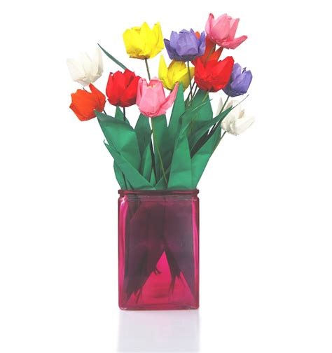 Tulip Origami For - premium origami tulip bouquet 12 graceincrease custom