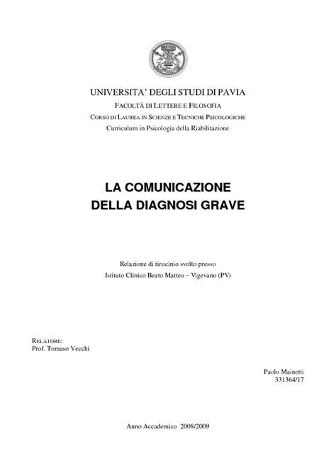 scienze e tecniche psicologiche pavia anteprima tesi laurea triennale la comunicazione della