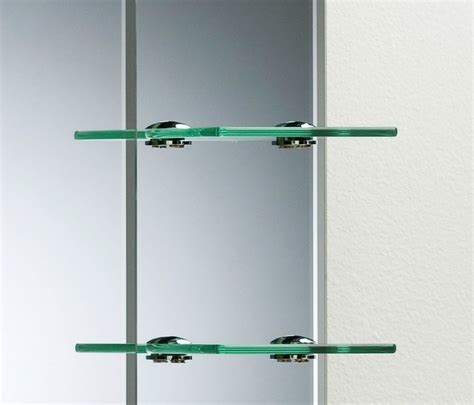 Plain Shelf Bathroom Mirror Modern Stylish With Shelves Frameless Wall